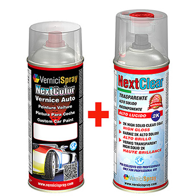 Kit Profesional con Pintura de Retoque spray Metalizada