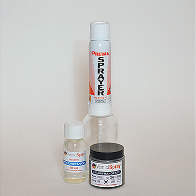 NextReflect Kit - Pintura Reflectante Silver 100 gr con Spray Gun