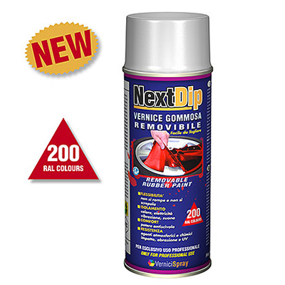 NextDip Goma spray quitable en colores RAL