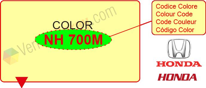 pintura coche honda todos los colores originales honda. Black Bedroom Furniture Sets. Home Design Ideas